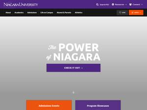 Niagara University's Website Screenshot