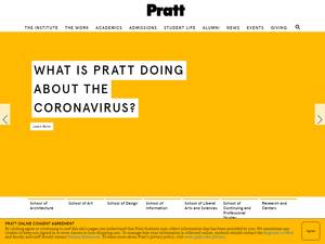 Pratt Institute's Website Screenshot