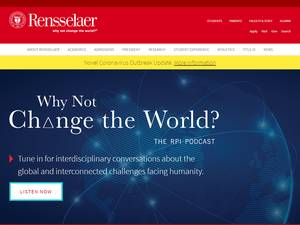 Rensselaer Polytechnic Institute's Website Screenshot