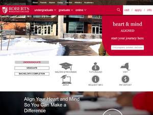 Roberts Wesleyan College's Website Screenshot