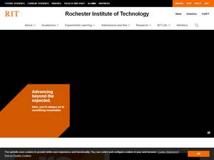 Rochester Institute of Technology's Website Screenshot