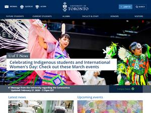 University of Toronto's Website Screenshot