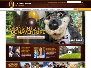 St. Bonaventure University's Website Screenshot