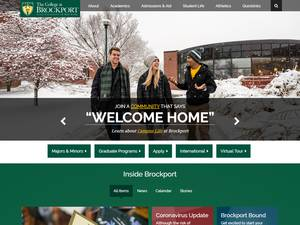 The College at Brockport's Website Screenshot