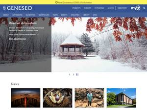 SUNY Geneseo's Website Screenshot
