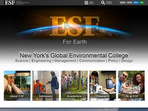SUNY College of Environmental Science and Forestry's Website Screenshot