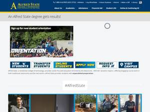 Alfred State College's Website Screenshot