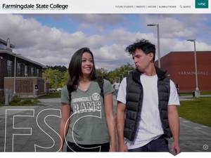 Farmingdale State College's Website Screenshot