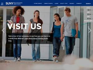 SUNY Polytechnic Institute's Website Screenshot