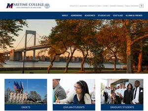 SUNY Maritime College's Website Screenshot