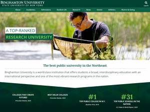 Binghamton University, State University of New York's Website Screenshot