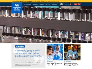 University at Buffalo, State University of New York's Website Screenshot