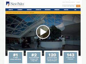 State University of New York at New Paltz's Website Screenshot