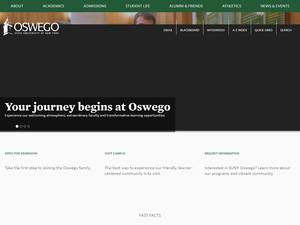 State University of New York at Oswego's Website Screenshot