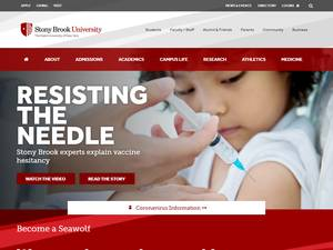 Stony Brook University's Website Screenshot