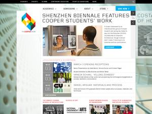 The Cooper Union for the Advancement of Science and Art's Website Screenshot