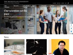 The Rockefeller University's Website Screenshot