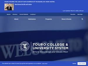 Touro College's Website Screenshot