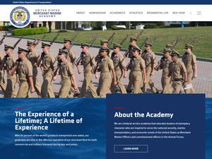 United States Merchant Marine Academy's Website Screenshot
