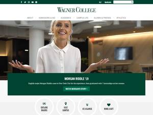Wagner College's Website Screenshot