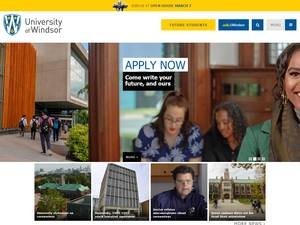 University of Windsor's Website Screenshot