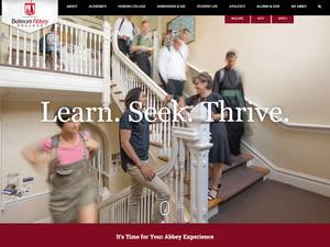 Belmont Abbey College's Website Screenshot