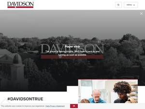 Davidson College's Website Screenshot