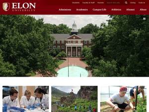 Elon University's Website Screenshot