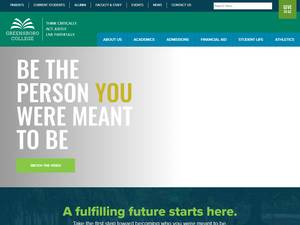 Greensboro College's Website Screenshot