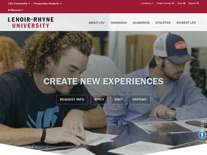 Lenoir-Rhyne University's Website Screenshot