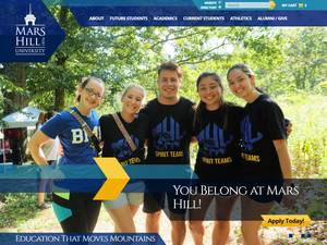 Mars Hill University's Website Screenshot