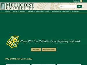 Methodist University's Website Screenshot
