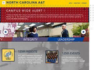 North Carolina Agricultural and Technical State University's Website Screenshot