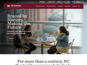 North Carolina Central University Screenshot