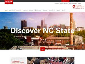 North Carolina State University's Website Screenshot