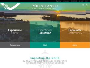 Mid-Atlantic Christian University's Website Screenshot