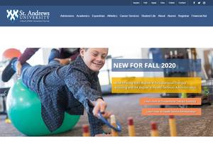 St Andrews University's Website Screenshot