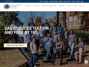 Saint Augustine's University's Website Screenshot