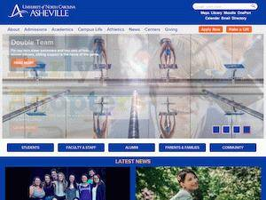 University of North Carolina at Asheville's Website Screenshot