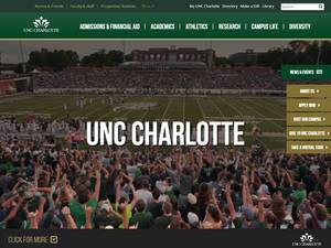 University of North Carolina at Charlotte's Website Screenshot