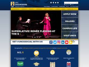 University of North Carolina at Greensboro's Website Screenshot