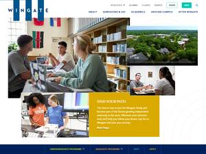 Wingate University's Website Screenshot
