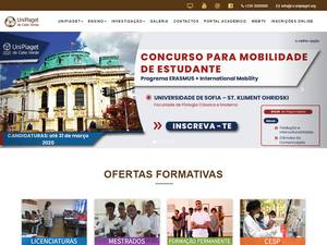 Universidade Jean Piaget de Cabo Verde's Website Screenshot