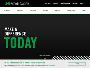 University of North Dakota's Website Screenshot