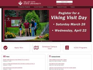 Valley City State University's Website Screenshot