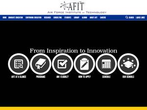 Air Force Institute of Technology's Website Screenshot