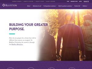 Bluffton University's Website Screenshot