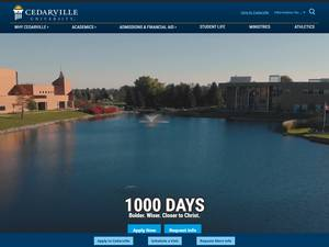 Cedarville University's Website Screenshot