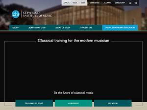 Cleveland Institute of Music's Website Screenshot