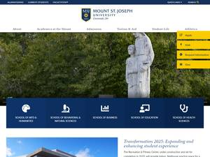 Mount St. Joseph University's Website Screenshot